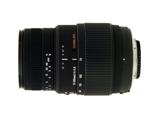 Sigma 70-300mm f/4-5.6 DG Macro Motorized Telephoto Zoom Lens for Nikon Digital SLR Cameras by Sigma