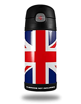 Skin Decal Wrap for Thermos Funtainer 12oz Bottle Union Jack 02 (BOTTLE NOT INCLUDED) by WraptorSkinz