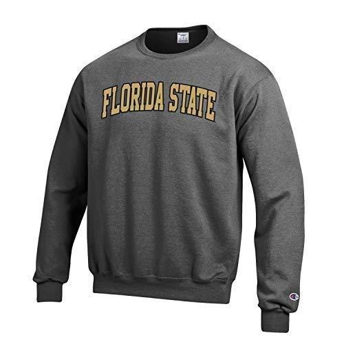 - Champion NCAA Florida State Seminoles Men's Eco Power Blend Crew Neck Sweat Shirt, Small, Gray