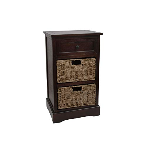 (Décor Therapy FR1471 Side Table Storage Chest, Walnut)
