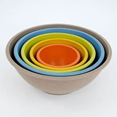 Bamboo Nesting Mixing Bowls -Set of 5