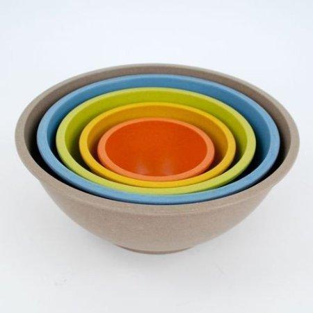 Set Bowl Bamboo - Bamboo Nesting Mixing Bowls -Set of 5