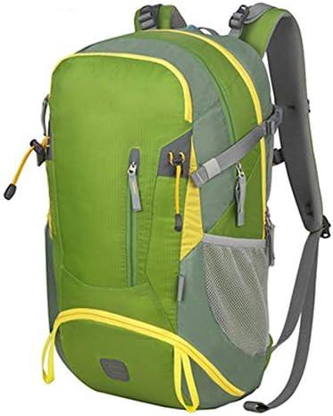 33Lアウトドアスポーツハイキングバックパック、 ナイロン布、 ロッククライミング/旅行、 男性と女性,Green