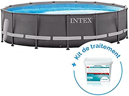 RAVIDAY Pack Piscina Tubular Intex Ultra Frame 4.27 X 1.22 m + ...