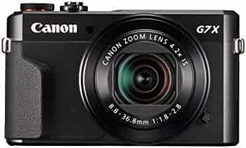 Canon PowerShot G7 X Mark II Digital Camera w/ 1 Inch Sensor and tilt LCD screen - Wi-Fi & NFC Enabled (Black)