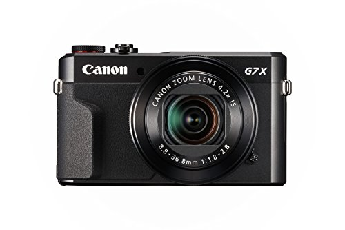 Canon PowerShot G7 X Mark II Digital Camera w/1 Inch Sensor and tilt LCD screen – Wi-Fi & NFC Enabled (Black)