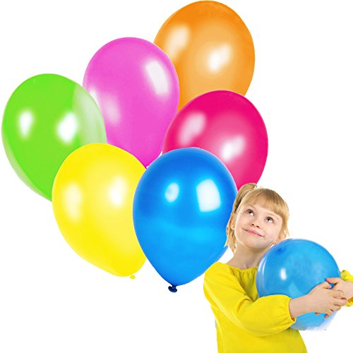 Toy Cubby Adorable Colorful Latex Balloons - 144 pieces
