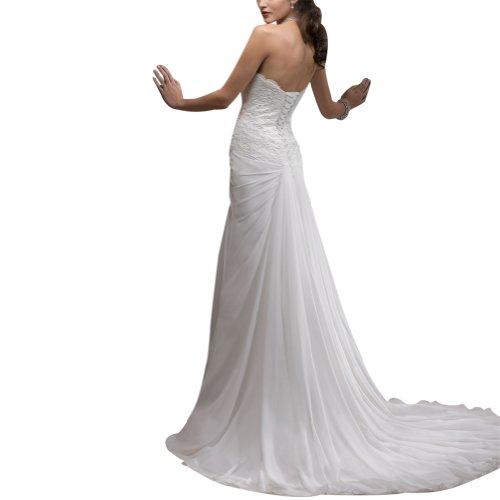 George Bride ligero Seres Queridos Capilla Tren gasa Vestidos de novia boda Vestidos con punta mieder Weiß
