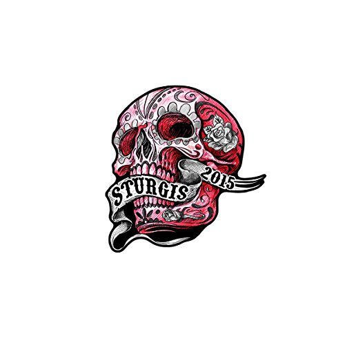 (Official 2015 Sturgis Motorcycle Rally 75th Anniversary Banner Skull Patch - By patch)