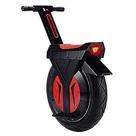 HLL Scooter électrique monocycle, 17″ 60V / 500W, Scooter électrique, avec Bluetooth Haut-parleur 60 km, E-Scooter, Gyroroue Unisex Adult