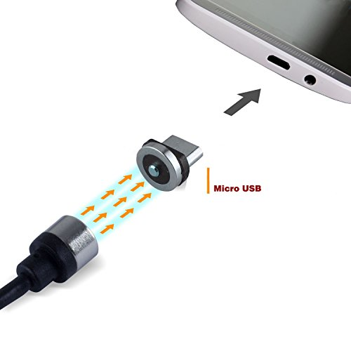 Magnetic Micro USB Quick Charging Cable 40 Inches, High Speed USB 2.0 a Male to Micro USB and Charge Cable for Android, Samsung S6/edge, Htc, Motorola, Nokia, Xiaomi and More