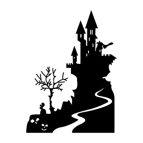 Vinyl Wall Art Decal - Halloween Castle -