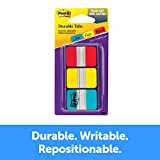 Post-it Tabs, 1 in, Solid, Red, Yellow, Blue, Durable, Writable, Repositionable, Sticks Securely, Removes Cleanly, 22 Tabs/Color, 66 Tabs/On-The-Go Dispenser, (686-RYB)