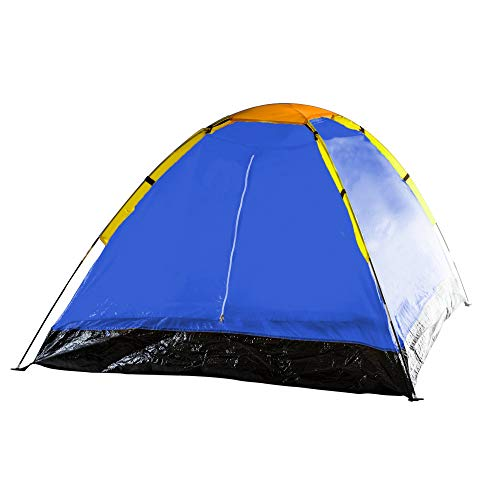 2-Person Tent, Dome Tents for Camping with Carry Bag by Wakeman Outdoors (Camping Gear for Hiking, Backpacking, and Traveling) – BLUE (Renewed)