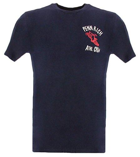 T In Penn Uomo rich shirt Woolrich Small Penn Rich Logoblu Cotone pI1gnq7fw