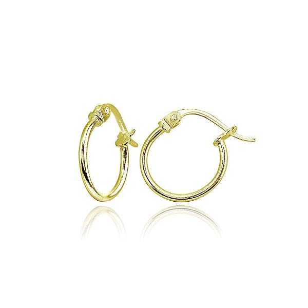 Sterling Silver 3 Pair High Polished Round-Tube Click-Top Hoop Earrings 3mm Wide Choose Your Color