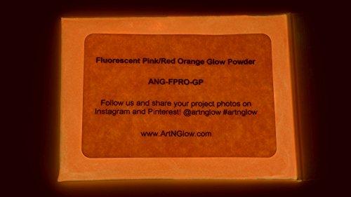 Pigmento luminoso en polvo  p/resina y arte 12gr ROSA FLUO