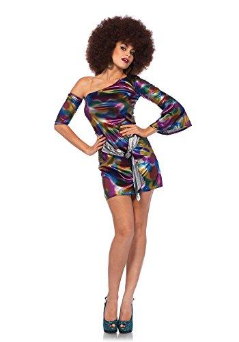 Leg Avenue Women's 2PC.Disco Doll, Multi, SML/MED