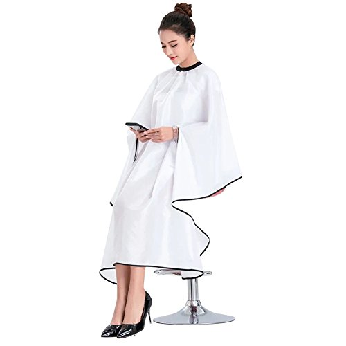 Lzttyee Hairdressing Hair Cut Cutting Cape Cloth Waterproof Salon Barbers Gown with Stretch Out Hand Design (Clothes Cut Outs)