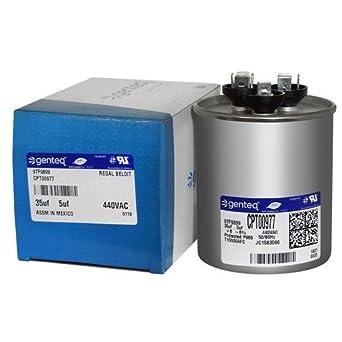 97F9899 - GE OEM Upgraded Replacement Round Capacitor 35 + 5 uf MFD 440 Volt