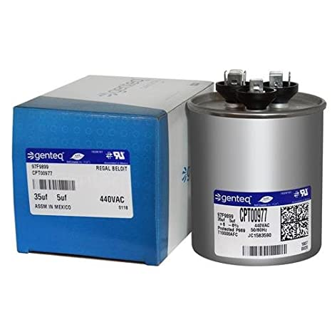 5 uf MFD 440 Volt Trane OEM Upgraded Replacement Round Capacitor 30 CPT00659