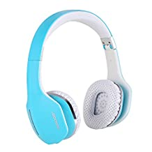 AUSDOM M07 Bluetooth 4.0 Wireless Foldable Folding Stereo Earphones [Music Streaming] [Hands-free Calling]On-ear Headsets Built-in Mic for Cell Phones iPhone 7,7 Plus,iPhone 6, 6 Plus, 5S, 5C, 5, 4S, 4, iPad Air, 5, 4, 3, 2, Retina Mini 2, Samsung G(Blue)