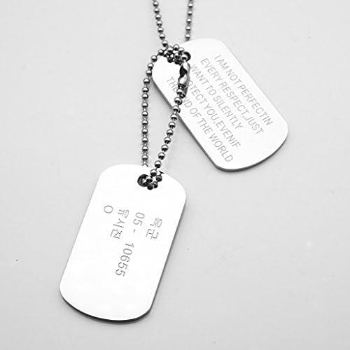 【ノーブランド品】韓国軍 カード ソン・ジュンギ ペンダント ネックレス