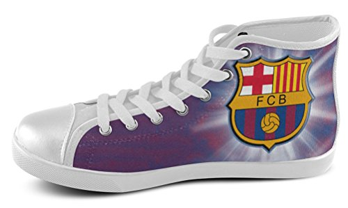 Sneakers Alte Da Uomo Per Tifosi Di Futbol Club Barcelona Shoes01
