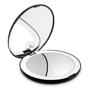 Amazon Com Herwiss Lighted Travel Makeup Mirror 1x Hd 7x