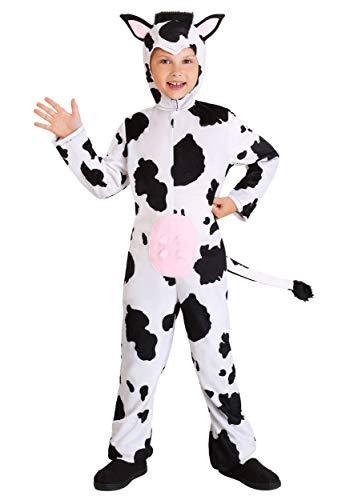 Child Cow Costume - M White