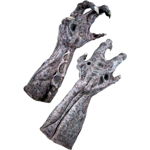 [Aliens Vs Predator Requiem And Deluxe Alien Hands, Gray, One Size] (Alien Vs Predator Costume For Kids)