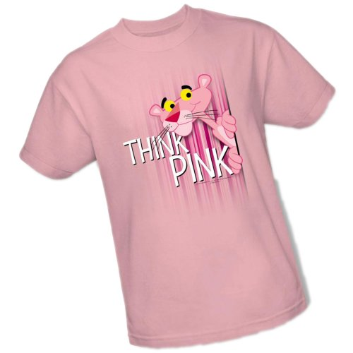 Think Pink -- Pink Panther Adult T-Shirt, X-Large ()