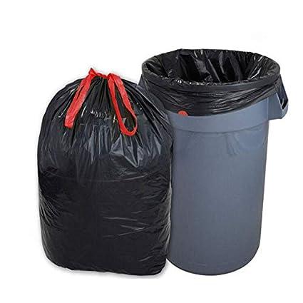 300 Müllsäcke mit Zugband 60 Liter(60x72cm), schwarz, 35µ - sehr stark. Muellbeutel. Abfallsäcke. Mülltüten.