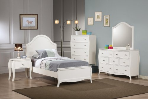 Coaster Home Furnishings Dominique Dresser Mirror, White (With Dresser Mirror Tall)
