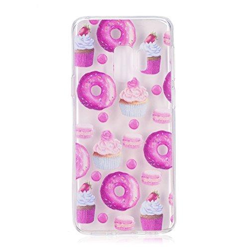 Funda para Samsung Galaxy S9 , IJIA Transparente Donuts TPU Silicona Suave Cover Tapa Caso Parachoques Carcasa Cubierta para Samsung Galaxy S9 (5.8)