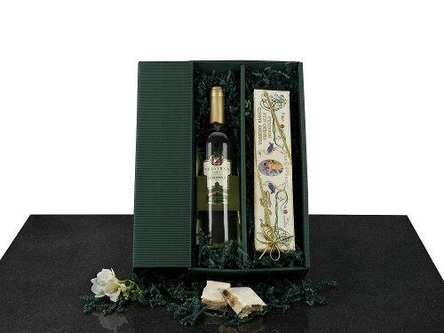1 Flasche italienischer Weißwein Trebbiano d'Abruzzo, 0,75l, 200 g weißer Nougat mit Haselnüssen
