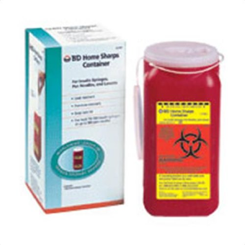 BD Home sharps container for insulin syringes and lancets - 1 Ea Personal Healthcare / Health Care ()