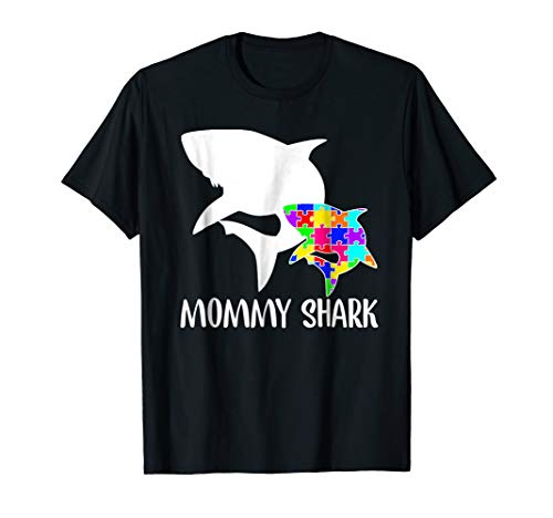 Mommy Shark Autism Awareness T-shirt For Mom Mother