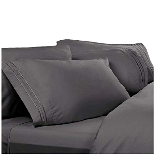 Twin XL Extra Long Sheets: Charcoal Grey, 1800 Thread Count Egyptian Bed Sheets, Deep Pocket. Reg $129.95. Sale $39.95. Softest High Thread Count Sheets, Twin Extra Long Size Sheet Sets.