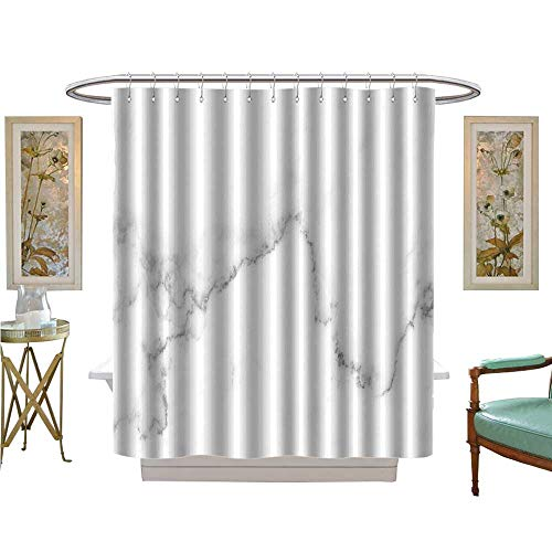 luvoluxhome Shower Curtains with Shower Hooks Natural White Marble Texture for Skin Tile Wallpaper Luxurious Background Bathroom Decor Sets with Hooks W72 x L96