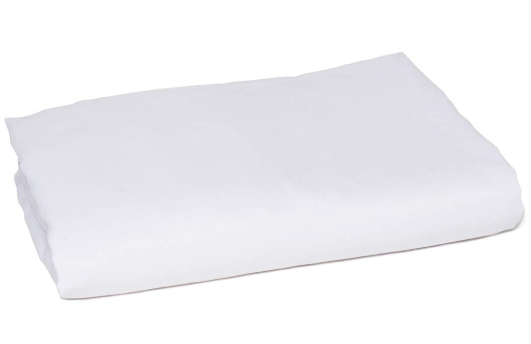 American Pillowcase King Size Flat Sheet Only - 300 Thread Count 100% Egyptian Cotton - Fitted Sheets Sold Separately for Set Guarantee (King/California King, White)