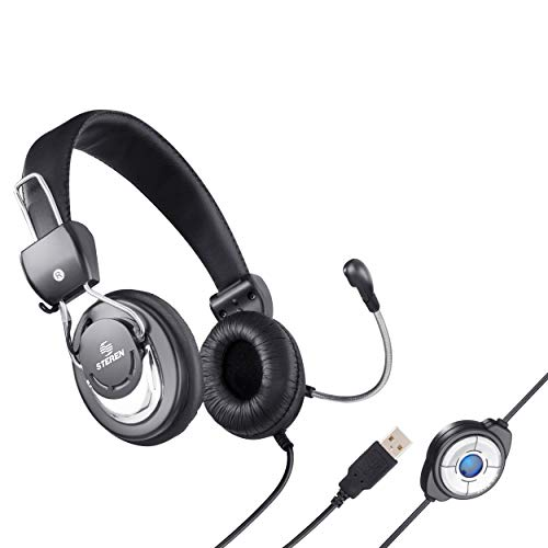 (Steren USB Over The Head Multimedia Headphone with Microphone)