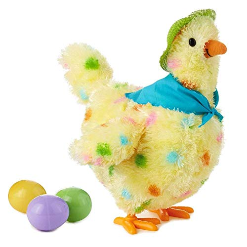 TODAYTOP Hen Laying Eggs Toy Egg Droppin' Mama Hen Interactive Stuffed Animal 10