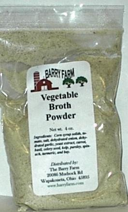 Vegetable Broth Powder, 4 oz. (Flavor Broth Powder)