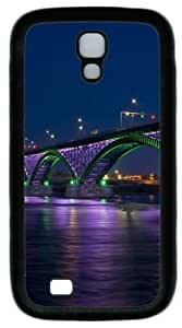 Cool Painting Peace bridge at night PC Silicone Case Cover for Samsung Galaxy S4/I9500