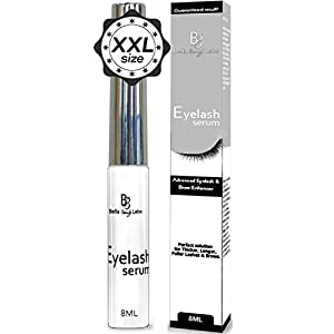 Eyelash Growth Serum Enhancer and Eyebrow Lash Conditioner - Advanced Enchancing Formula Primer - Beauty Treatment for Natural Thick & Long Eyelashes and Eye brows - XXL Size 8ml for Men and Women