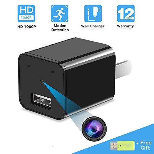 Hidden Camera USB Phone Charger Adapter, ieGeek HD 1080P Cam