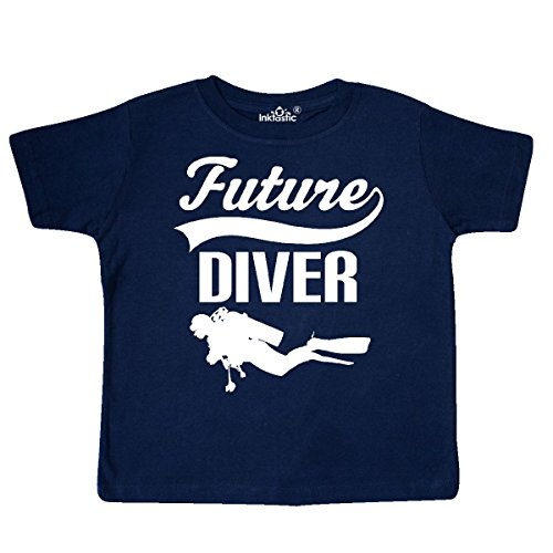 Inktastic - Future Diver Scuba Diving Toddler T-Shirt 3T Navy Blue