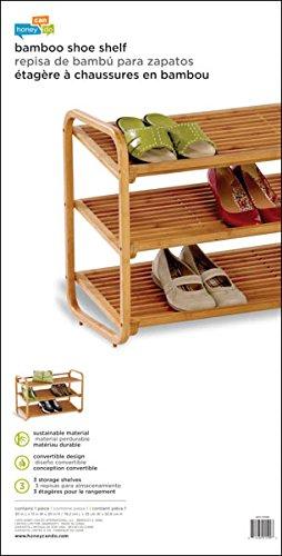 Honey-Can-Do SHO-01599 Bamboo 3-Tier Shoe Shelf by Honey-Can-Do (Image #8)