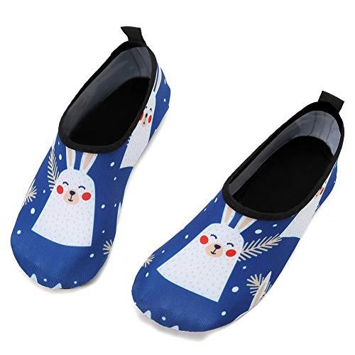 JIAHANG Little Kids Swim Water Shoes Baby Boys Girls Toddler Quick-Dry Barefoot Aqua Socks Shoes for Beach Pool Surfing Walking-TSX-rabbit-30-31